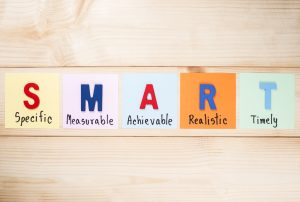 Using the acronym SMART Goals for writing clear objectives